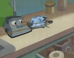 Brave Little Toaster Radio Hand Painted Brave Little Toaster Production Cel By