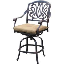 Bar Height Patio Set With Swivel Chairs Kitchen Design Fabulous Furniture Antique Bronze Wrought Iron