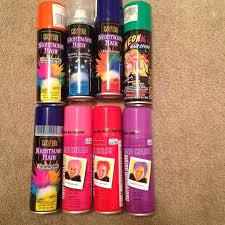 lot 8 spray temporary hair color perfect