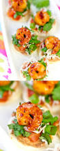 shrimp tostada bites perfect party appetizer recipe