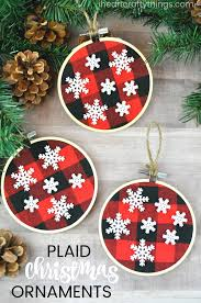 simple buffalo plaid ornaments i crafty things