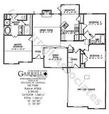tyler house plan house plans by garrell associates inc