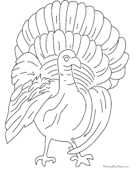 turkey thanksgiving coloring pages print 020