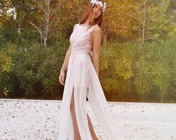 pink lace wedding dress blush pink lace bohemian wedding dress bridal wedding gown
