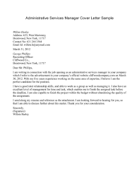 best ideas of sample cover letter for admin manager position with