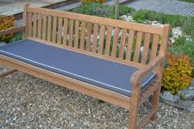 3 seater 1 4m 4 6ft luxury garden bench cushion dove grey