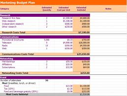 Department Budget Template Excel Marketing Budget Template Marketing Budget Template Excel