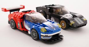 ford gt and gt40 le mans heritage in lego form
