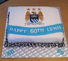 manchester badges cake soccer theme cake