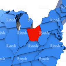 Map Ohio State by Ohio State On Usa Map Ohio Flag And Map Us States Royalty Free