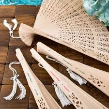wedding favors unlimited intricately carved personalized sandalwood fan favors