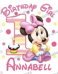 baby minnie mouse 1st birthday baby minnie mouse 1st birthday image personalized name digital
