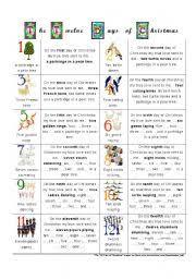 worksheet the twelve days of christmas