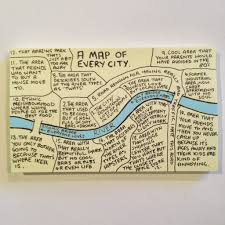 Map Note This Post It Note Is A Map Of Every City In The World The Poke