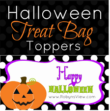 Halloween Candy Printable Coupons by Halloween Treat Bag Toppers Printable Robyn U0027s View