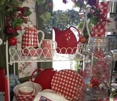Vintage Kitchen Curtains by Red Gingham Dishes Colorful Interior Design Pinterest Red