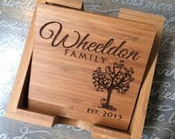 engraved wedding gifts engraved coasters etsy