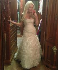 wedding dress not white harris pink wedding dress looked lovely for wedding to hef