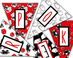 Poker Party Decorations Casino Party Decorations 10 Items Printable Party Package