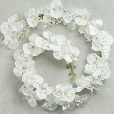 white garland 65 white orchid garland 29353cm craftoutlet