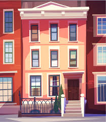 simple houses vectors design free vector in encapsulated