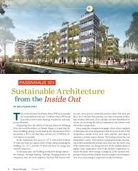 passivhaus 101 sustainable architecture from the inside out