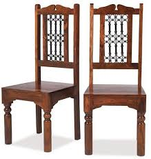 Indian Dining Chairs Heritage Furniture Indian Jali Sheesham Low Back Jali Chair