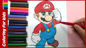 super mario coloring pages painting for kids from coloring