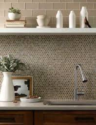 sle backsplashes for kitchens metal copper stainless steel 3 4 penny round tile steel penny