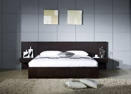 Modern Wooden Bed Furniture Bedroom Modern Queen Bedroom With Interior Brown Wooden