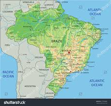 physical map of argentina high detailed brazil physical map labeling stock vector 275038898