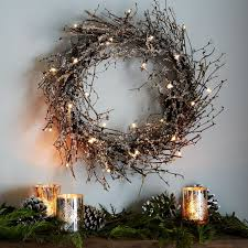 led glitter wreath west elm