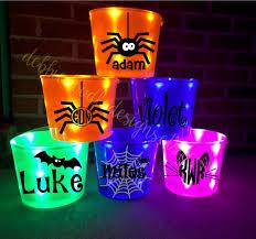 purple halloween light up bucket by debbiedoodledesigns on etsy
