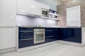 modele exposition cuisine vendue cuisine flash gris bleu brillant bernay habitat cuisine