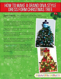 ebook tutorial dress form christmas tree grand diva style