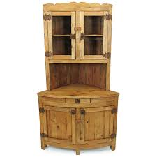 rustic pine corner china hutch mexican furniture