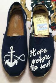 Anchor For The Soul Etsy - custom handpainted love faith hope anchors the soul toms anchor