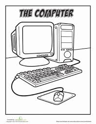 coloring pictures of computer parts coloring pages ideas