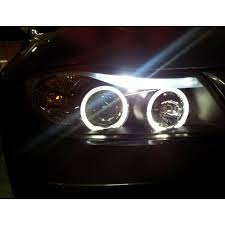 eye bmw headlights xenon 06 08 bmw e90 3 series sedan eye halo projector