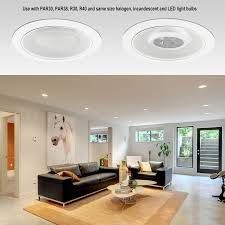 Led Bulbs For Recessed Can Lights by 6 Inch Light Trim With White Metal Step Baffle Torchstar