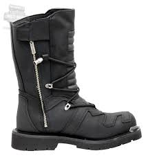 mens black leather riding boots 96035 harley davidson mens axel black leather high cut boot