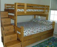 Bunk Bed With Storage Stairs Gray Bunk Beds With Stairs Storage Drawers And Under Bed Storage