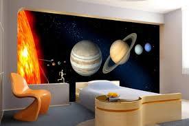papier peint chambre ado murs déco chambre ado papier peint système solaire 42 idées de