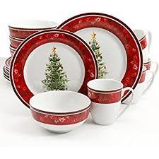 christmas dinnerware gibson home noel nostalgia 16 dinnerware set