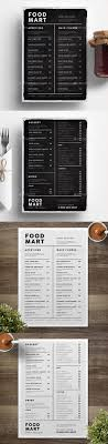 photoshop menu template best 25 food menu design ideas on menu design