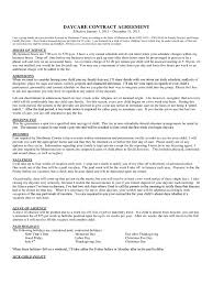 is thanksgiving a paid holiday daycare contract template 1 free templates in pdf word excel