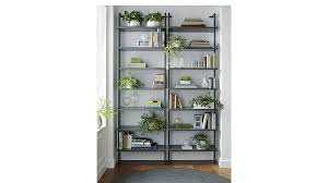 How To Build A Wall Mounted Bookcase Stairway Wall Mounted Grey Bookshlef Cb2