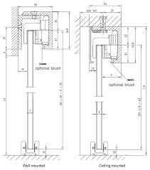 Fixing Closet Doors Dorma Agile 150 Frameless Glass Sliding Door Gear