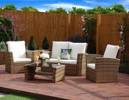 Piece Algarve Rattan Sofa Lounge Set For Patios Conservatories - Wicker sofa sets