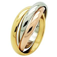 russian wedding band tri colour steel russian wedding ring stainless steel rings